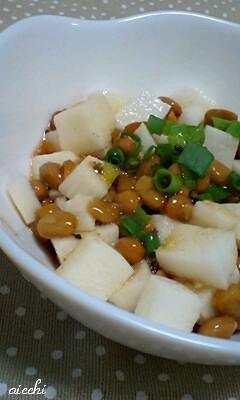 長芋と納豆のわさび醤油和えup