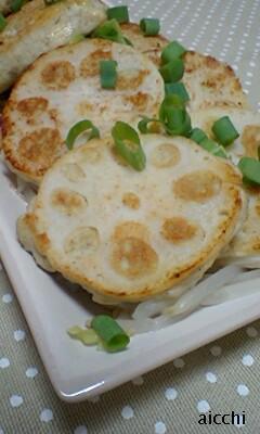 豆腐と蓮根のふわふわバーグup