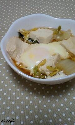 豆腐白菜卵のつゆだく煮
