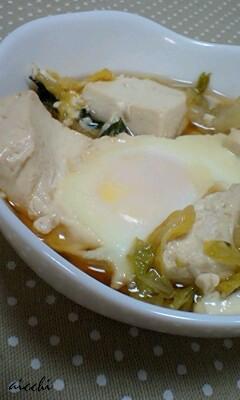 豆腐白菜卵のつゆだく煮up