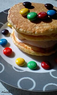 【m&ms】おからパンケーキup