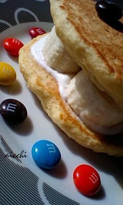【m&ms】おからパンケーキupup