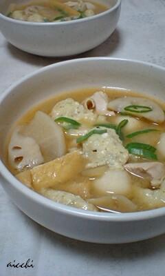 青海苔豆腐すいとん