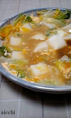 【博多うまだし】白菜とはんぺんの卵つゆだく煮