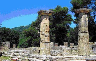 「オリンピアの考古遺跡」