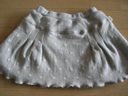 グレー×白のクローバーニットスカート