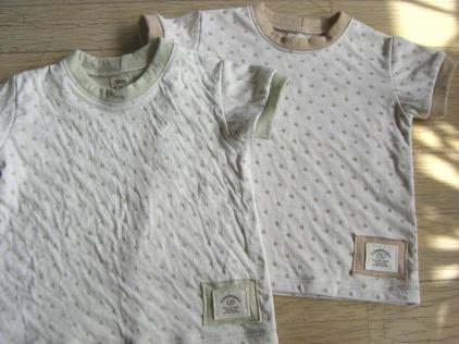 ミルクティーとグリーンティーのTシャツ
