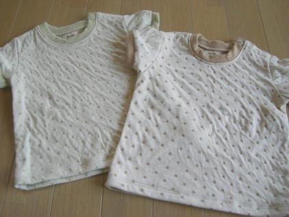 サイズ80自然綿のTシャツ
