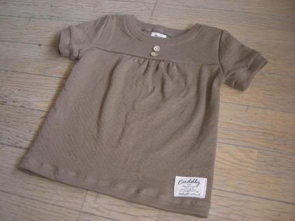 ココア色のギャザーTシャツ