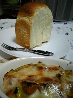 1008グラタンと食パン