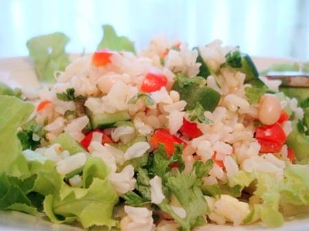 キュウリ玄米サラダ2