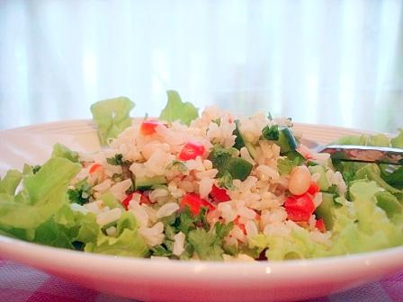 キュウリ玄米サラダ