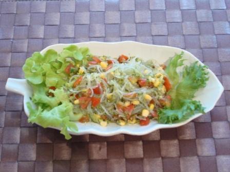 キュウリソースサラダ