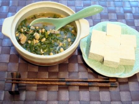 ネギニラ麻婆湯豆腐
