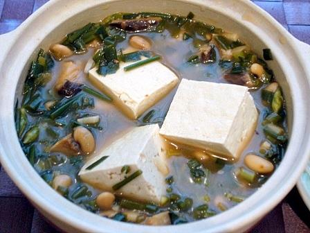ネギニラ麻婆湯豆腐2