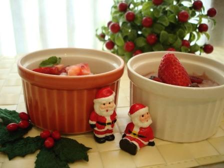 クリスマス豆腐ムース