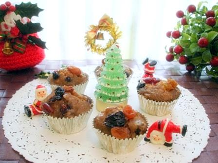 クリスマス蒸しケーキ