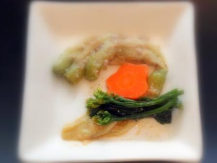 花広東菜酢味噌