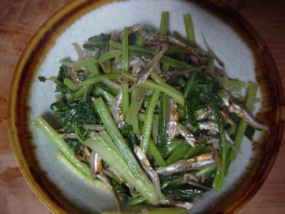 小松菜の炒めもの3