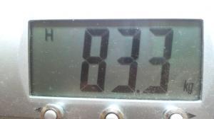 今朝の体重2