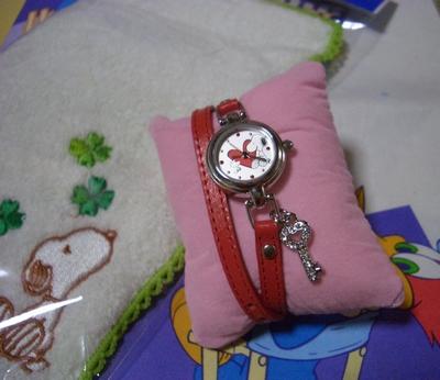 時計タオル2