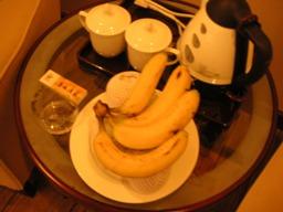 ウェルカムフルーツとして部屋にバナナがありました。