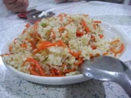 野菜がはいた炒飯