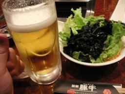 ビール焼肉の最強コンビ