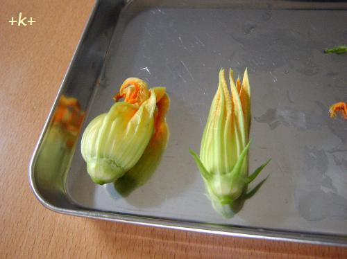 ズッキーニ花のフリッター