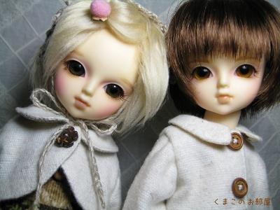 絹と木綿太(幼SDリン・シン)