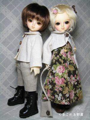 木綿太と絹(幼SDシン・リン)