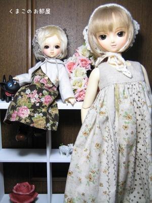 絹ちゃん(幼SDリン)と雛姫(SDのの)