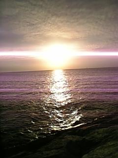 北谷の夕日1
