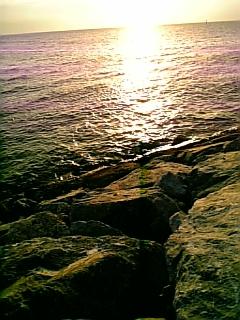 北谷の夕日3