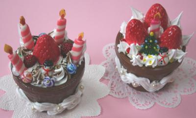 チョコケーキの小物入れしめ