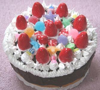 クリスマスチョコケーキ小物入れ