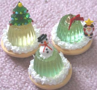 クリスマスゼリー3つ