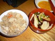 松茸ご飯と松茸お吸い物