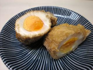 油揚げの卵入り袋煮