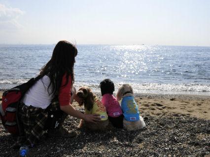 海とママと3姉妹