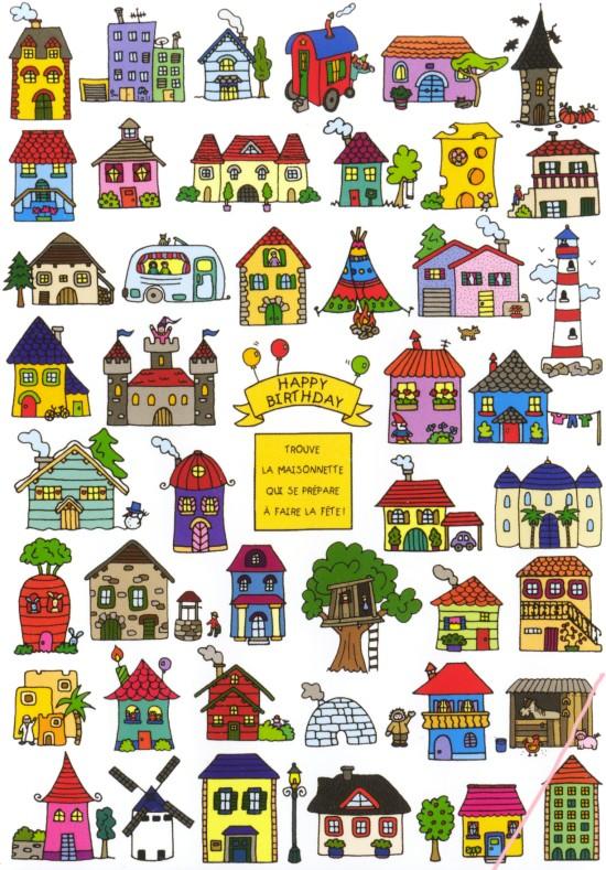 フランスの小さいお家ポストカードslashed