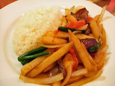ビーフと野菜の炒め物