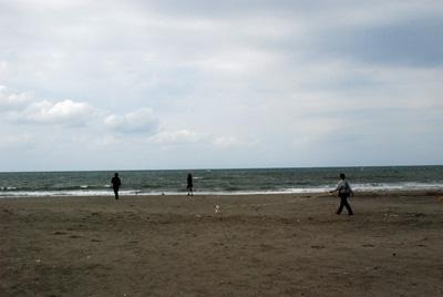 1日目の砂浜