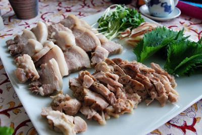 蒸し豚&鶏