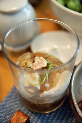 豆腐の梅ジュレソース