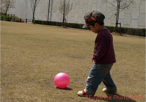 ボール蹴るのが好き
