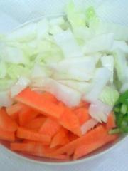 白菜にんじんピーマン