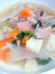 電子レンジで野菜スープ