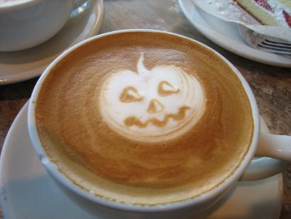 カフェオレにかぼちゃが・・・