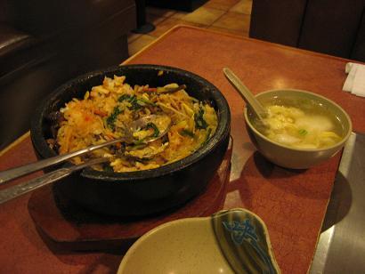 石焼ビビンバ スープ付き